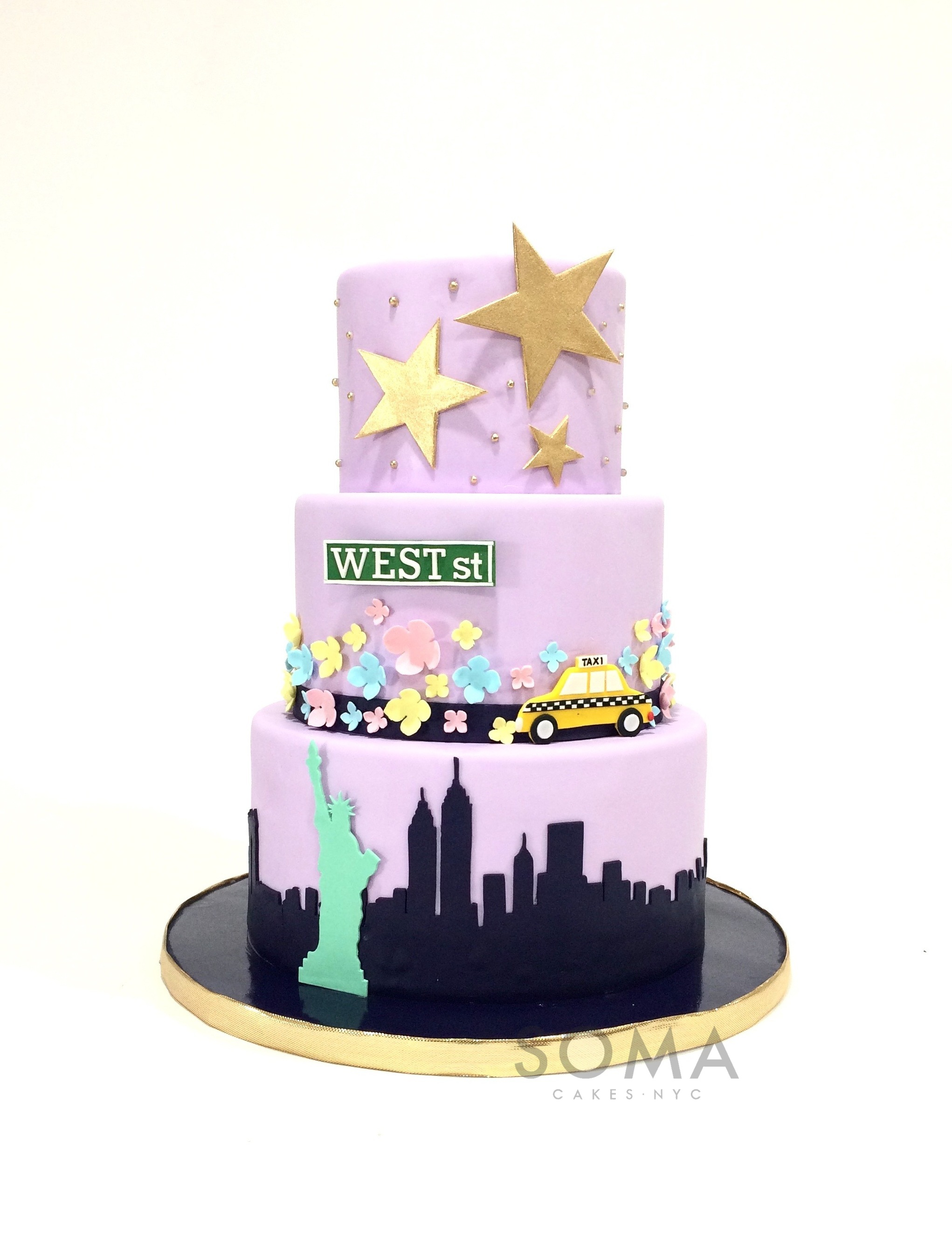 Groovy Soma Cakes Nyc Personalised Birthday Cards Paralily Jamesorg